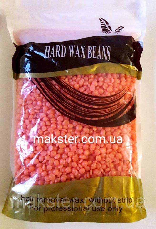 Воск для депиляции горячий пленочный в гранулах горячий Hard Wax Beans 1000 г(1 кг)