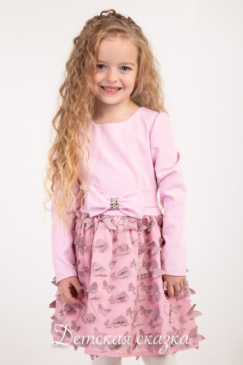 098f70aadb1 Детское платье 3D бабочки от 2 до 5 лет