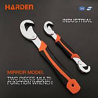 Ключ самозажимной универсальный усиленный, 2-комп. рукоятка, 2 шт. 9-23 мм Harden Tools 540572, фото 1