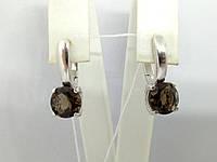 Серебряные серьги Адриатика с дымчатым кварцем. Артикул 2936/9Р-QSMK, фото 1