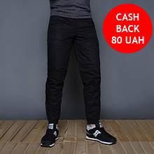 Теплые мужские штаны на флисе черные бренд ТУР модель Тор (Thor) размер S,M,L,XL,XXL