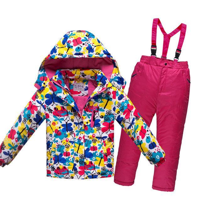 Детский лыжный костюм - Бабочки