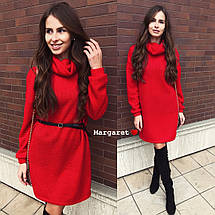 Платье зимнее свободное с горлом с люрексом теплое свободное, фото 2