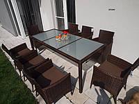Комплект плетеной мебели 8+1 из ротанга