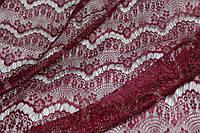 Винный цвет! Ткань гипюр реснички винный цвет, фото 1