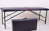 Кушетка косметологическая c МЕТАЛЛИЧЕСКИМ корпусом, раскладная, цвет ЧЕРНЫЙ, фото 1
