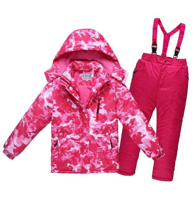 Детский лыжный костюм - Розовый лёд