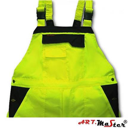 Полукомбинезон светоотражающий ARTMAS желтого цвета Spodnie ocieplane FLASH żółte, фото 2