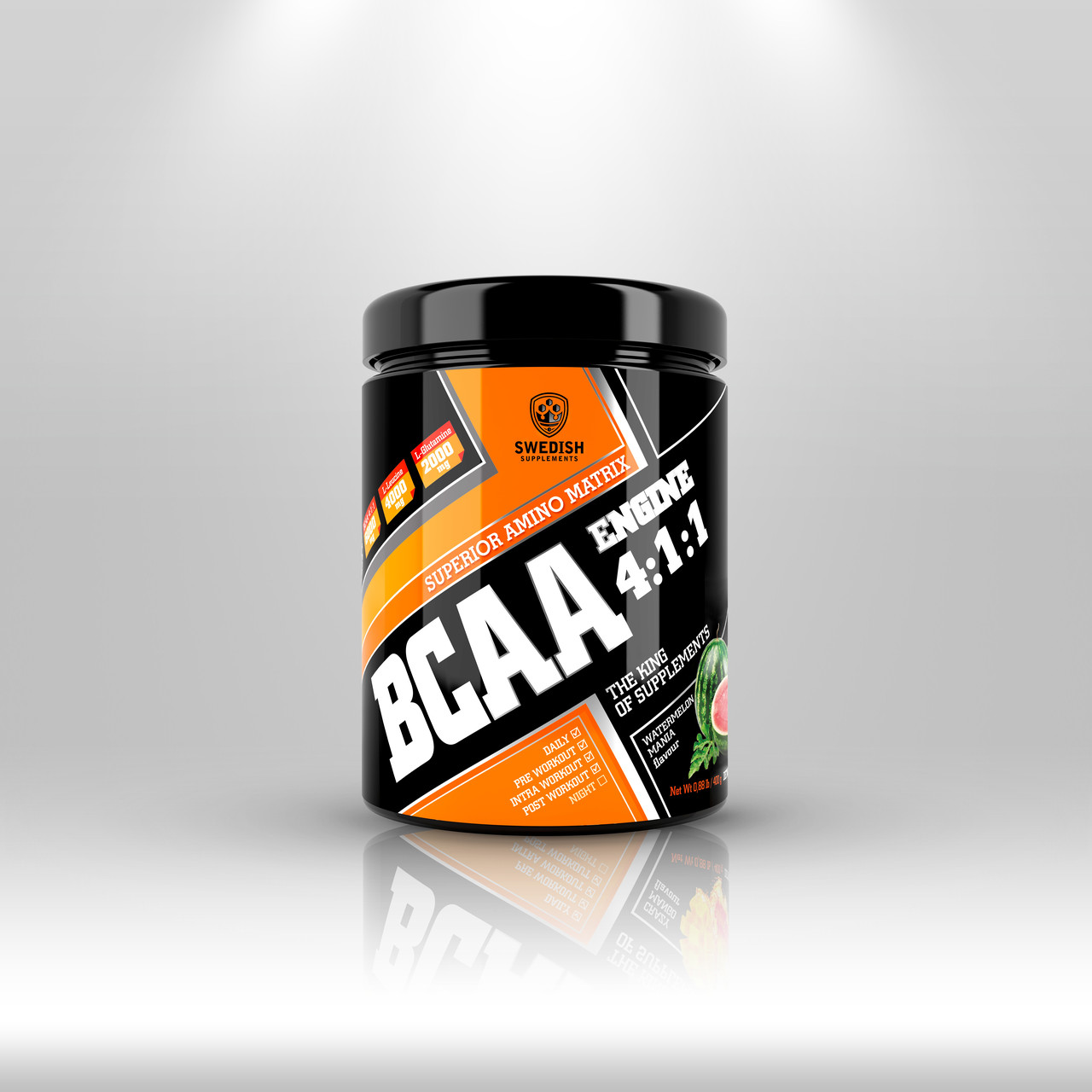 Swedish supplements - BCAA - 400g Watermelon