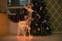 Гирлянда внешняя Adenki Олень новогодний светодиодный 70 см Желтый (5-70YELLOW)
