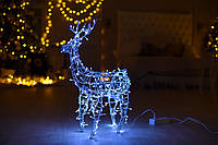 Гирлянда внешняя Adenki Олень новогодний светодиодный 70 см Голубой (5-70BLUE)