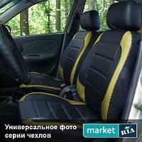 Чехлы на сиденья Audi A6 из Экокожи (AVto-AMbition), полный комплект (5 мест)