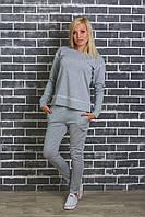 Спортивный женский костюм светло-серый