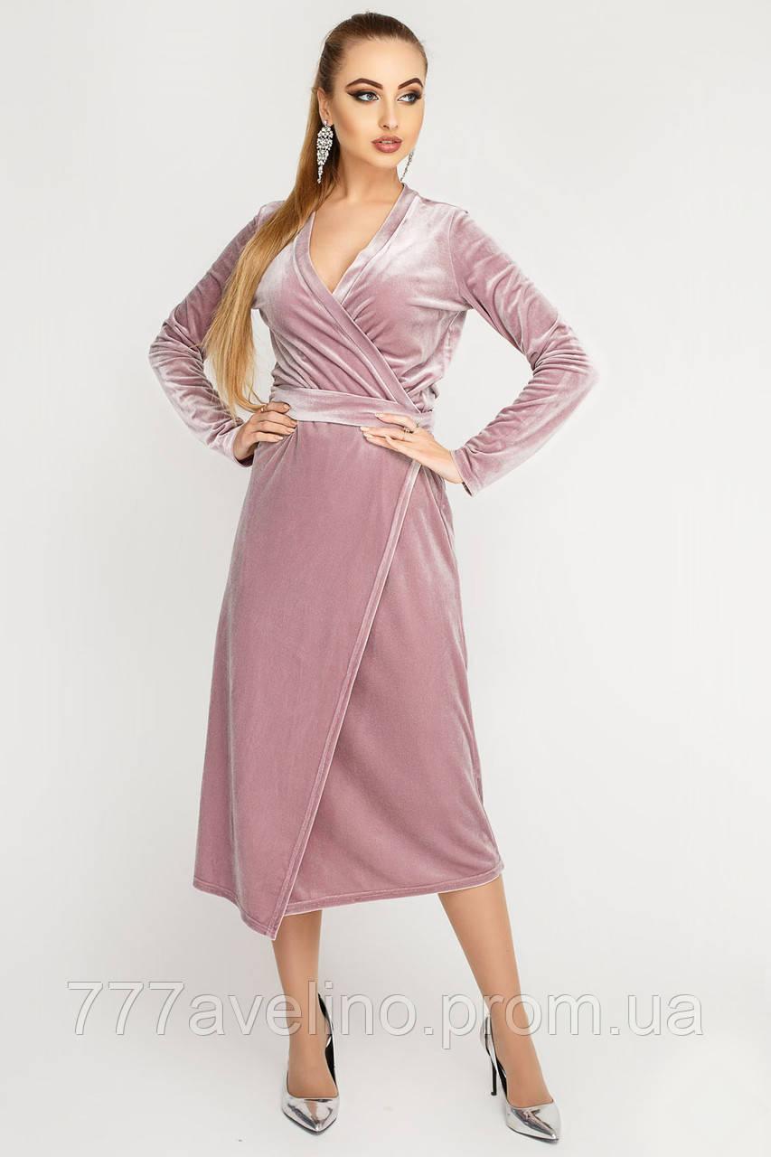 Женское  длинное платье велюровое