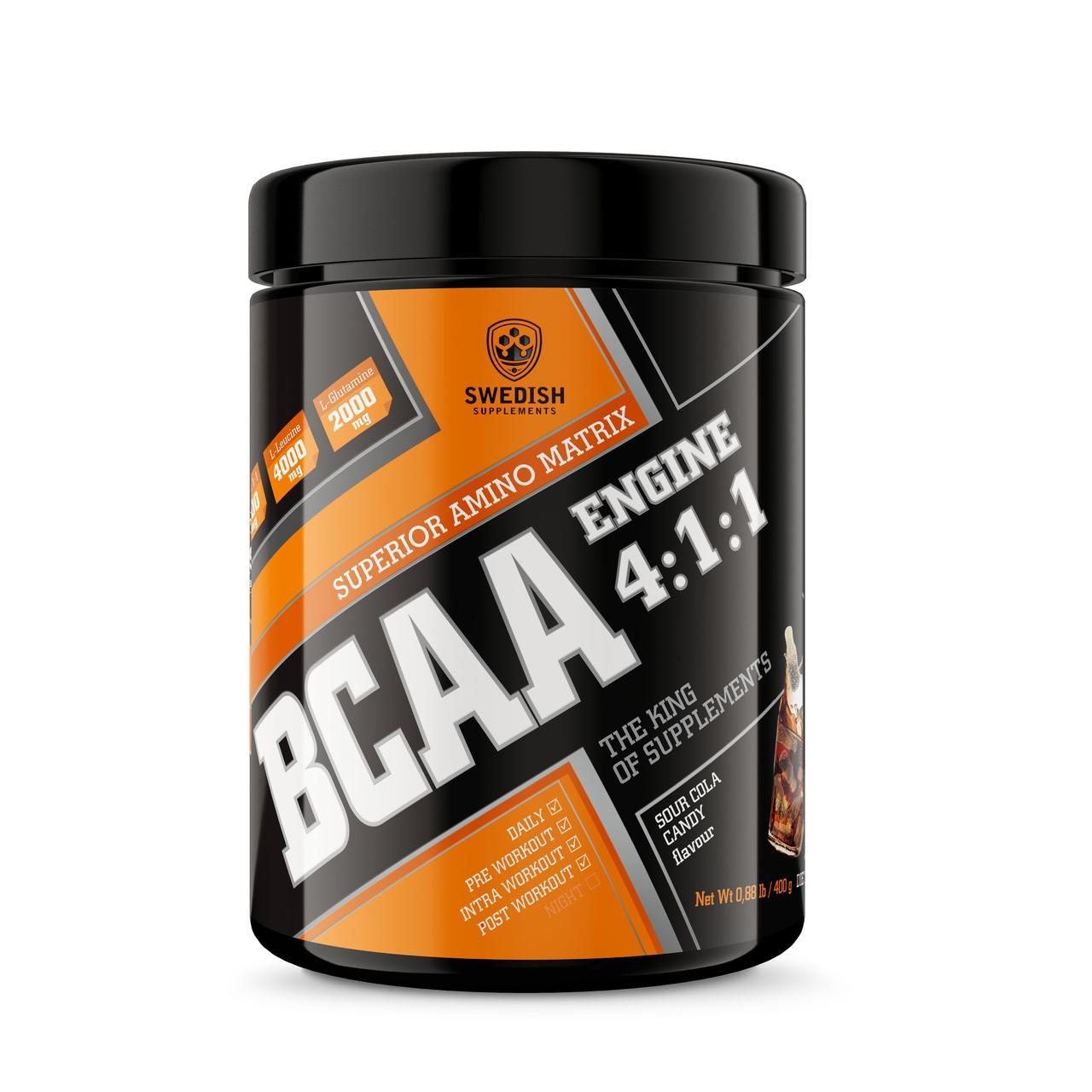 Swedish supplements - BCAA - 400g sour cola candy