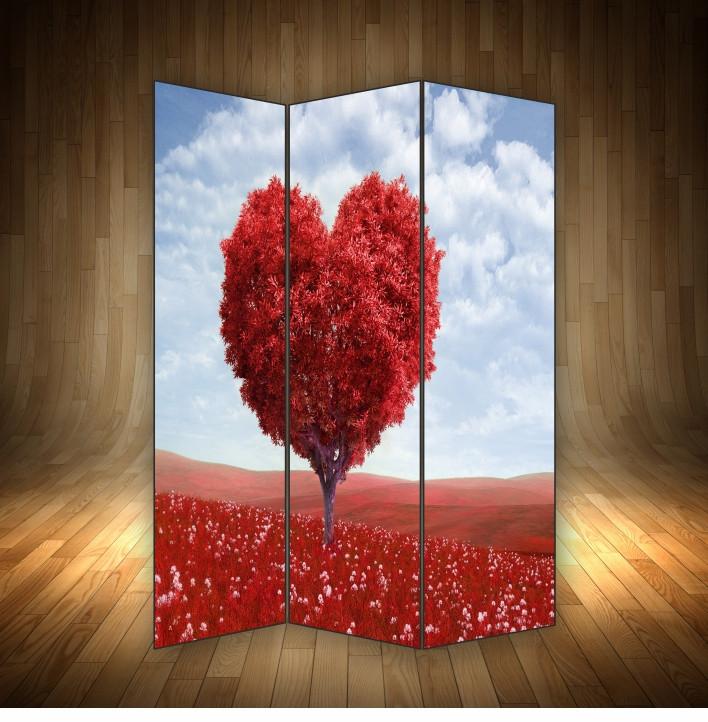 """Ширма декоративна """" Червоне дерево кохання """""""