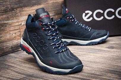 Зимние мужские ботинки Ecco Siom синие
