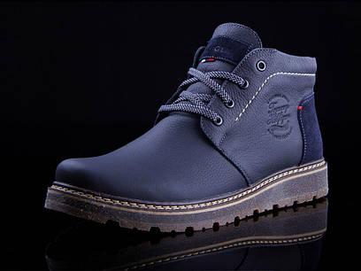 Мужские кожаные ботинки  Tommy Hilfiger  на меху