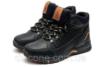 Мужские зимние кожаные ботинки Columbia NS черные