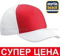 Кепка Тракер Унисекс Цвет Красный/Белый MB070-RDW