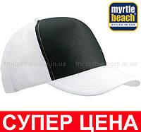 Кепка Тракер Унисекс Цвет Чёрный/Белый MB070-BLW