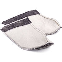 Тапочки для дома и бани войлочные Luxyart Комби малые, размер 36-39, белый (LS-145)