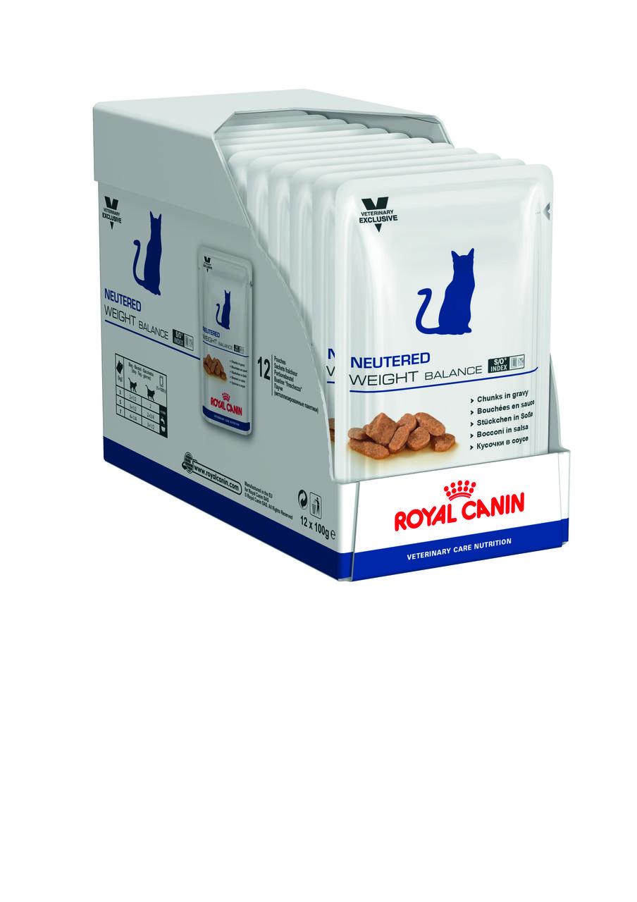 Royal Canin Neutered Weight Balance 100г*12шт - паучи для кастрованих котів і кішок з надмірною вагою