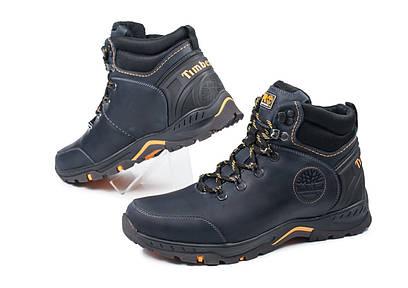 Мужские кожаные зимние ботинки Синие  Timberland 40 41 42 43 44 45