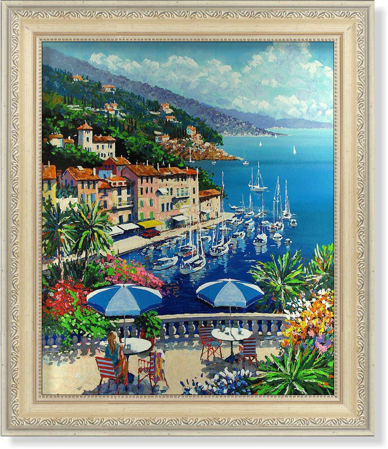 Репродукция  современной картины  Говарда Беренса (США) «Европейское средиземноморье V» 30 х 25 см
