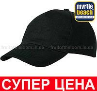 Классическая пятипанельная кепка хлопок Цвет Чёрный MB092-BLK