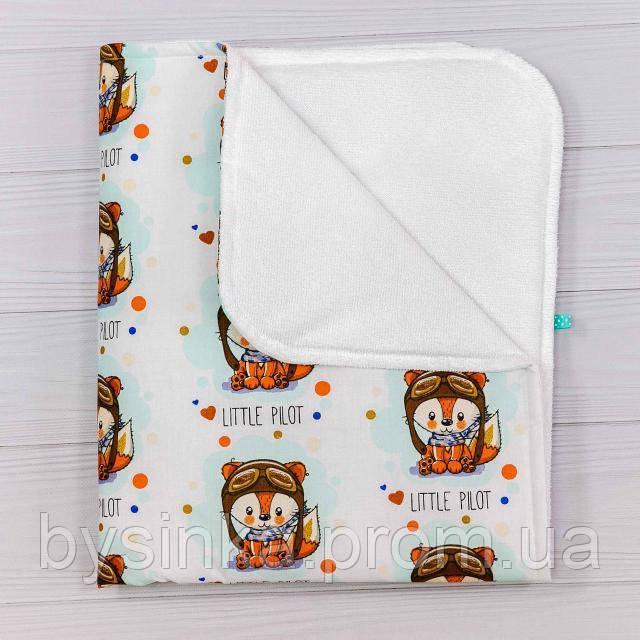 Непромокаемая пеленка BabySoon Лисенок пилот 70 х 80 см (0633)
