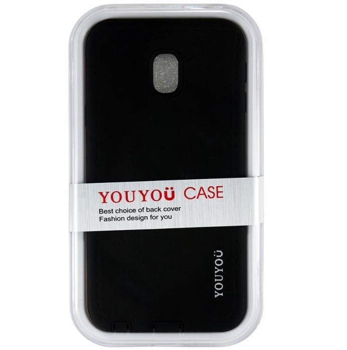 Чехол YouYou Silicone Case Samsung J330 Galaxy J3 2017 Black