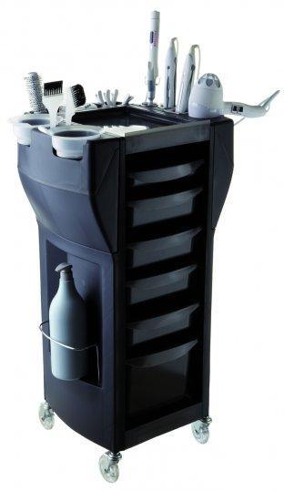 Парикмахерская тележка черного цвета  UP GRADE MIX BLACK (Италия)