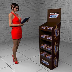 Торговая мебель для Snickers
