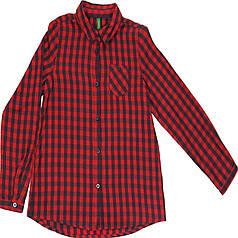 Рубашка United Colors of Benetton 130 см Красно-серая (5RG95Q740 012/1)