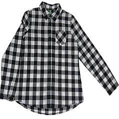 Рубашка United Colors Of Benetton 5AFL5Q790 012 130 см Черно-белая (8300896098870)