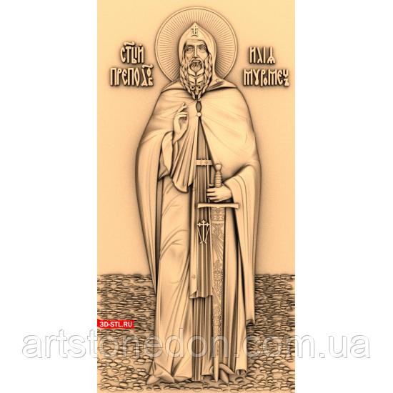 Икона резная Святой Илья Муромец