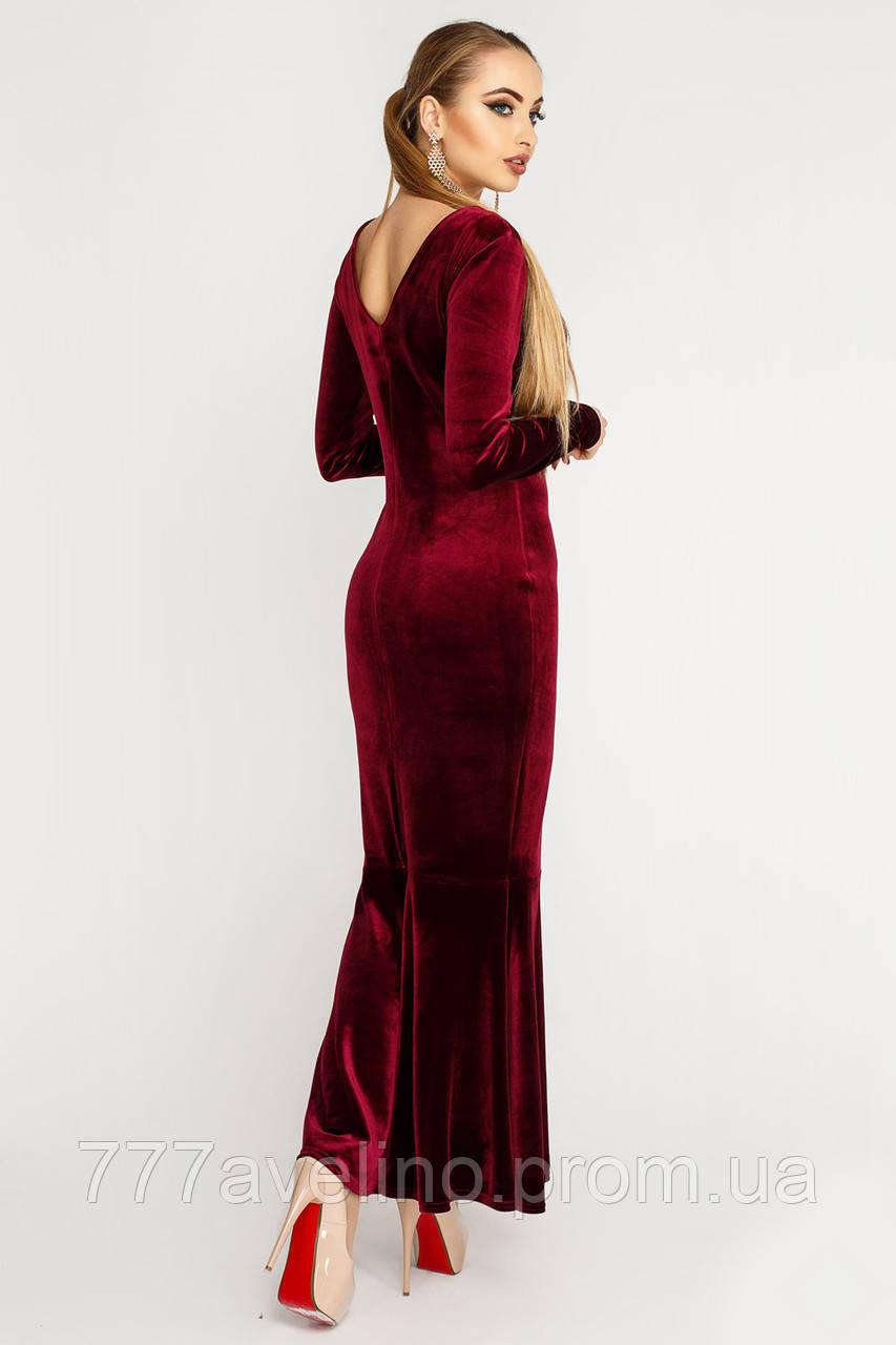 af4e7c44916 Женское длинное платье в пол велюровое - Интернет магазин Модный Стиль в  Харькове