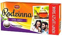 Чай черный в пакетах Rodzinna Earl Grey, 112г (80шт.)