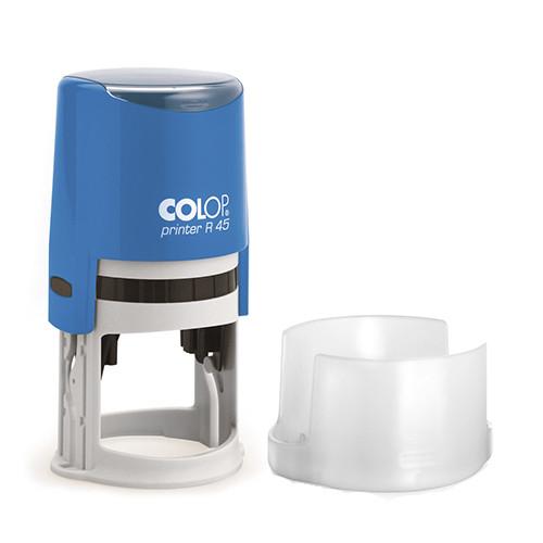 Оснастка для круглой печати Printer R45 синий