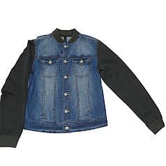 Куртка United Colors of Benetton джинсовая 160 см Серо-синяя (2AGJ537G0)