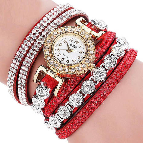 """Женские наручные часы """"CCQ"""" (красный ремешок), фото 2"""