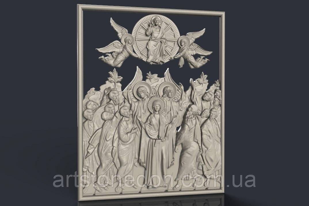 Икона резная Божья Матерь и 12 Апостолов