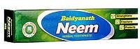 Зубная паста натуральная без фтора Neem Ним Бадьянатх 100г
