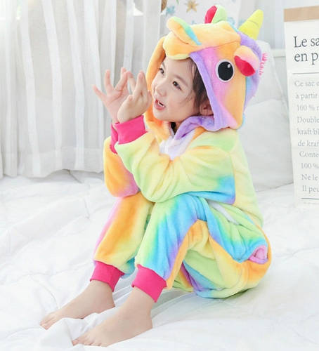 Пижама кигуруми для детей Единорог радужный