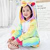 Пижама кигуруми для детей Единорог радужный, фото 3