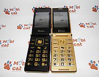 Мобильный телефон раскладушка Dsfen V1 6800mAh двухсимочная раскладушка Vertu Gucci