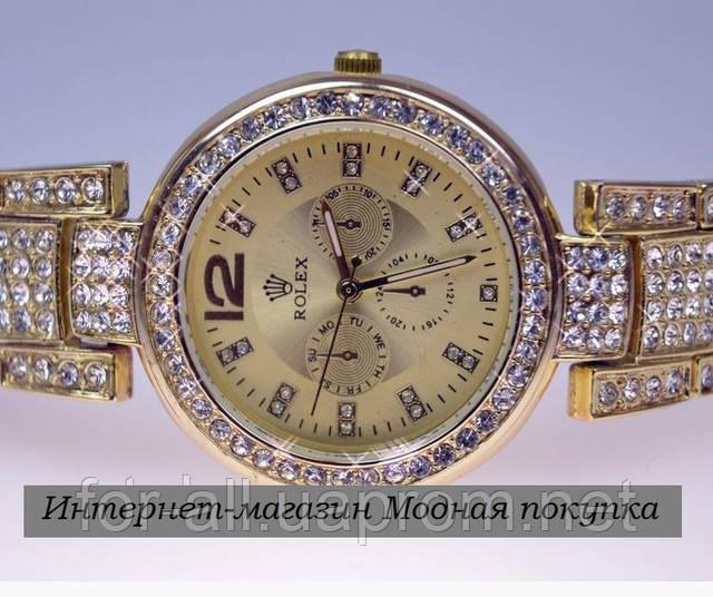 Часы женские наручные Rolex Gold R6988 в интернет-магазине Модная покупка