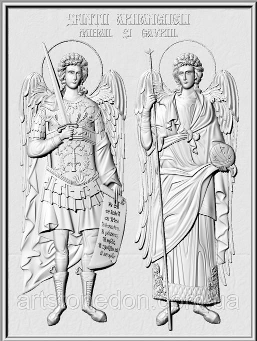 Икона резная Архангелы Михаил и Гавриил