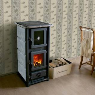 """Печь для дома с духовкой """"Олимпия"""" облицовка камнем, фото 2"""